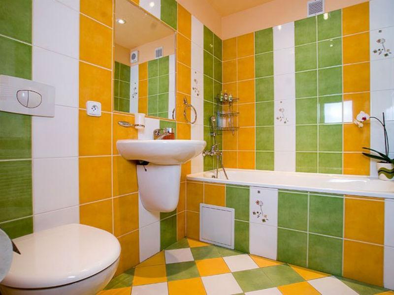 Ванная комната салатового цвета фото